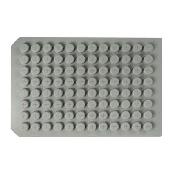 96FPSO Pre-Slit Soft PTFE/Silicone Cap Mat, good with aggressive solvents