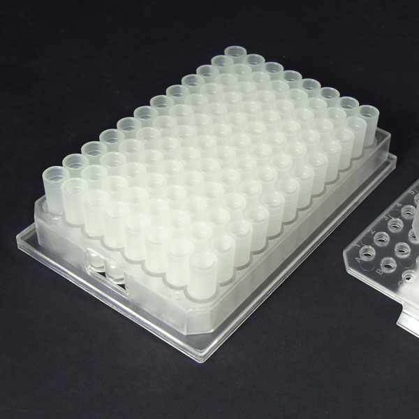 96PV10-C 1.0mL 96-Well Clear Flexi-Tier Block System with Conical Polypropylene