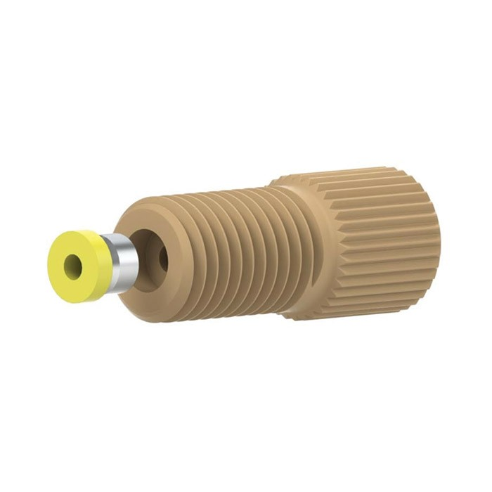 "97141 PEEK®/Tefzel® Super Flangeless Fitting for 1/16""OD tubing, 5/16-24 Flat-bottom Port"