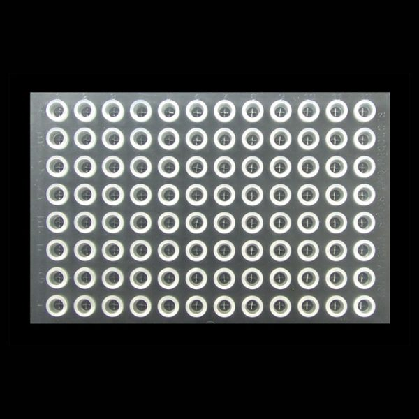 99690 Clear Pre-Slit Silicone/PTFE Cap Mat for 1mL TrueTaper® Plate and 1mL Tapered Vials