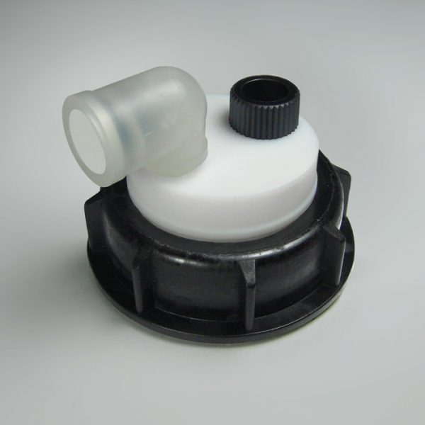 """CCP0014 Prep Mobile Phase Safety Cap with One Port for 1/4"""" OD Tubing"""