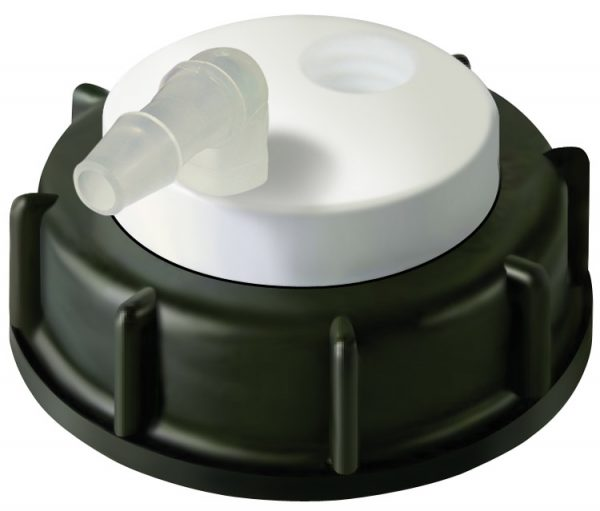 CW60001 Canary-Safe Waste Cap, S60, with 1 Port for Barbed Adapter
