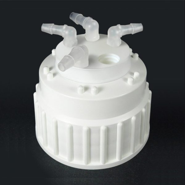 CW83004 Canary-Safe Safety Waste Cap B83 for Nalgene Bottles, 4 Ports for Barbed Adapters