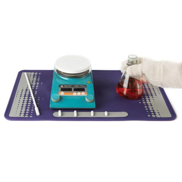 LABMATP Silicone Lab Mat, Purple/Gray