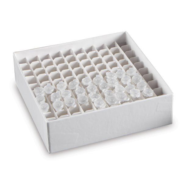 MTB100 Cardboard Micro Tube Boxes for 0.5mL Tubes, 100 Wells