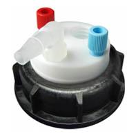 CSF5155 Canary-Safe Waste Cap, S51/55, with Safety Funnel & 2 Standard Tubing Ports