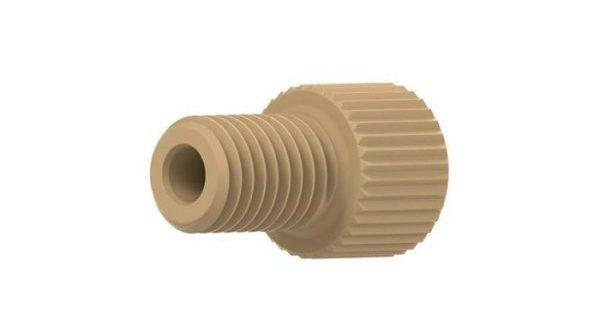 "59235X PEEK® Short Flangeless Male Nuts for 1/16"" OD Tubing, 1/4-28"