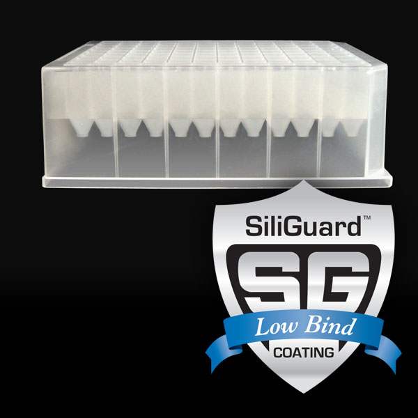 96ST10GC 1mL 96-Well Collection Plate with Short V-Bottom Wells, with SiliGuard Low Bind Coating