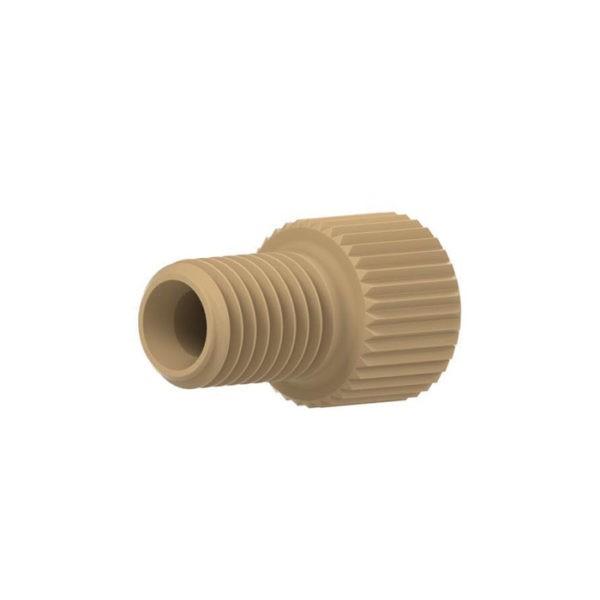 """59335X PEEK® Short Flangeless Male Nut for 1/8"""" OD Tubing"""