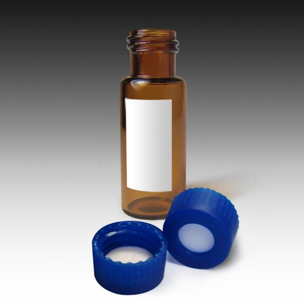 99005AM-CASE MSQ Vial Kit: Amber Screw Vials with Marking Spot and Caps with PTFE/Silicone Liners