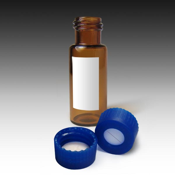 99005AMSL-CASE MSQ Vial Kit: Amber Screw Vials with Marking Spot and Caps with Pre-Slit PTFE/Silicone Liners