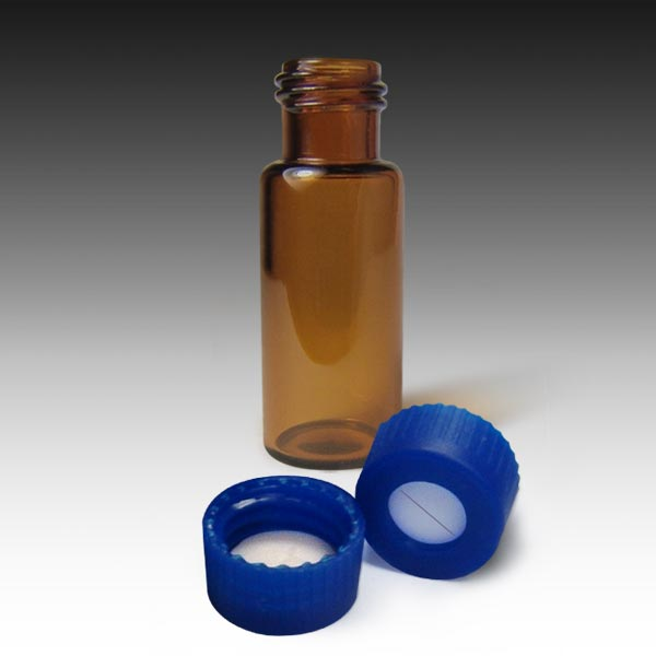 99005ASL-CASE MSQ Vial Kit: Amber Screw Vials and Caps with Pre-Slit PTFE/Silicone Liners