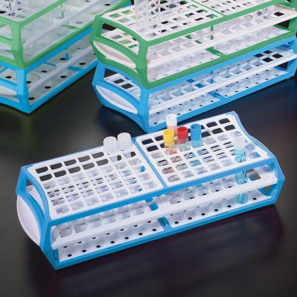 813600B Tube Racks - For Tubes up to 13mm, Blue