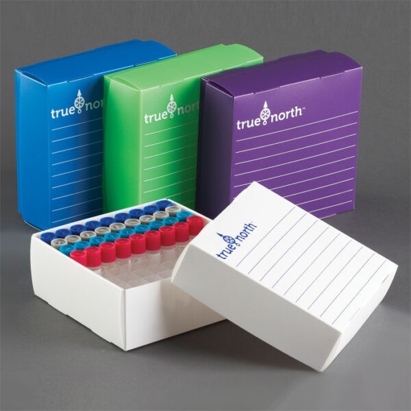 FFB81W Flatpack Freezer Box for 12mm Tubes, 81 Wells – White