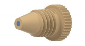 57120X Inline MicroFilter End Fitting with 0.5µm PEEK Frit, Black