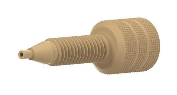 59653 PEEK Extra Long Adapter, M6 Female to 10-32 Male