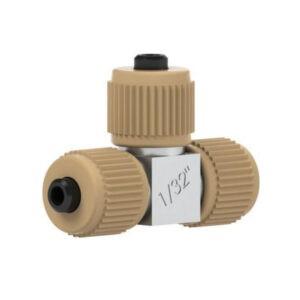 "82132 Ultra High Pressure PEEK/SS Micro Tee for 1/32"" OD Tubing"