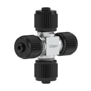 82460 Ultra High Pressure PEEK/SS Micro Cross for 360µm OD Tubing